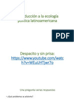Una Introducción a La Ecología Política Latinomaricana[1]