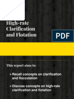 Highrate Clarification and Flotation