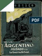 Diario de Un Argentino Soldado en La Guerra Actual - Homet Juan B