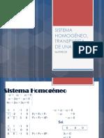 Clase 4 - Sistema Homogeneo Transpuesta de Una Matriz