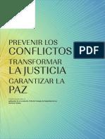 Prevenir Los Conflictos, Transformar La Justicia LIBRO