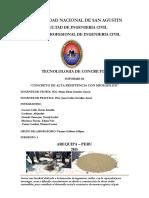 Concretos-De-Alta-Resistencia Con Sueprplastificante y Microsilice UNIVERSIDAD NACIONAL de SAN AGUSTIN