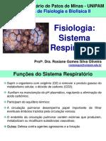 2. Fisiologia e Biofísica Do Sist. Respiratório - Rosiane Gomes