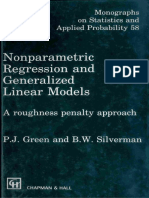 (Chapman & Hall_CRC Monographs on Statistics & Applied Probability) P.J. Green, Bernard. W. Silverman-Nonparametric Regression and Generalized Linear Models_ a Roughness Penalty Approach-Chapman and H