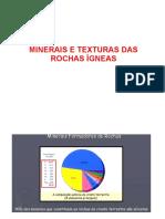 Minerais e Texturas das Rochas Ígneas