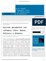 Gestión Documental Con Software Libre