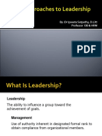 11-Basic Approaches to Leadership