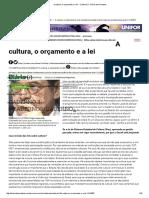 A Cultura, o Orçamento e a Lei - Caderno 3 - Diário Do Nordeste