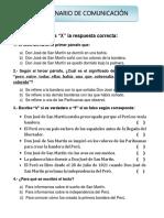 Cuestionario_com_el Sueño de San Martín