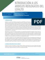 Boletín 7 - Introducción a Los Modelos Reológicos Del Asfalto