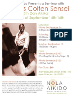 Charles Colten Sensei at NOLA Aikido September 2018 Flyer
