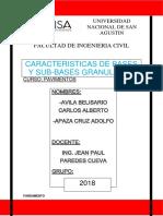 Características de Bases y Sub-bases Granulares