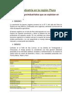 Agroindustria en La Región Piura