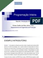 Aula 1 - Introdução à Programação Inteira_EaD_CEDERJ
