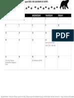 2018 august school calendar