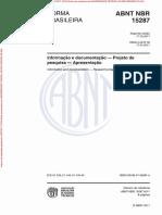 NBR 15287 - 2011 - Informação e Documentação - Projeto de Pesquisa - Apresentação