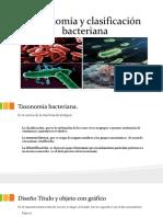 toxonomía y clasificación bacteriana