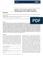 attention and social-cognitive brain systems in typical development and autism spectrum disorder