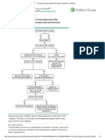 Hemodynamically Unstable PE Treatment Algorithm - UpToDate