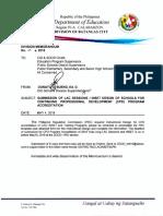 Division Memorandum No. 69,s.2018