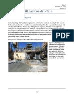 Drill Pad Construction