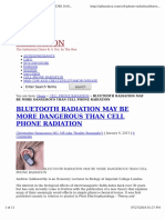Bluetooth Radiation May Be More Dangerous Than Cell Phone Radiat