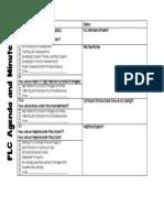plc agenda and minutes