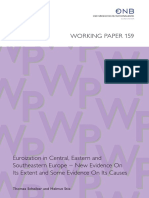 Euroization in Central, Eastern and Southeastern Europe – New