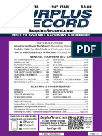 SEPTEMBER 2018 Surplus Record Machinery & Equipment Directory