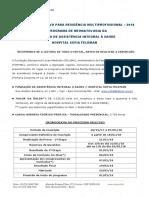 Edital Residência Multiprofissional 2018 Sofia Neonatologia