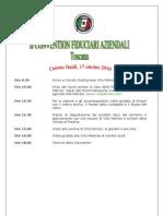 Programma Convention TCI a Villa Petriolo