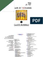 Appunti di ( Ki)swahili - CLASSI NOMINALI