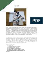 Diseño de un braso robotico con carton