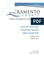 Inspector General Report On Shooting Of Mike McIntyre