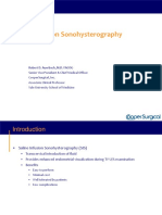 Saline Infusion Sonohysterography
