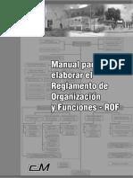 Manual Para Elaboracion Del Rof