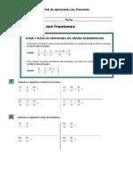 Guía de Operaciones Con Fracciones.
