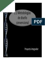 1.1 Metodologías de Diseño Convencional