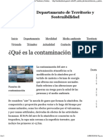¿Qué Es La Contaminación Del Aire-. Departamento de Territorio y Sostenibilidad