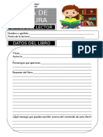 Ficha de Lectura - Biblioteca Escolar