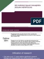 Evidenced Based Nursing Dalam Manajemen Gangguan Hematologi
