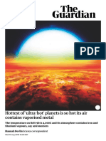 Hottest of 'Ultra-hot' Planets is So Hot Its Air Contains Vaporised Metal _ Science _ the Guardian