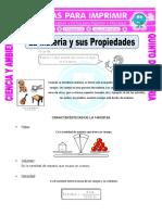 Ficha La Materia y Sus Propiedades Para Quinto de Primaria