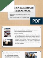 Pembicara Seminar Internasional, Contact Person