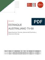 Estanque Australiano TV-68 - Especificaciones (1)