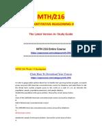MTH 216 MATH 216 mth216 math 216 QUANTITATIVE REASONING II