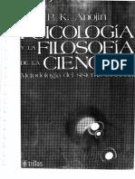 Psicología y La Filosofía de La Ciencia. Metodología Del Sistema Funcional - Anojin