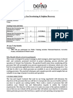 Natural Gas Processing Gas Sweeteningm & Sulphur Recovery Outline(6)