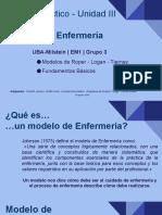 Trabajo Práctico - Unidad III Modelos de Enfermería