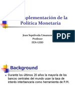 Implementacion Politica Monetaria
